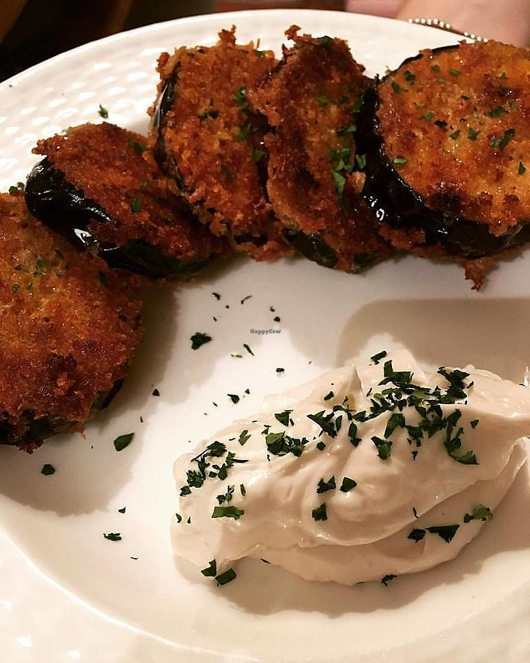 """Photo of Fat Rabbit  by <a href=""""/members/profile/community5"""">community5</a> <br/>Aubergine schnitzel with garlic mayo  <br/> August 4, 2017  - <a href='/contact/abuse/image/97771/288426'>Report</a>"""