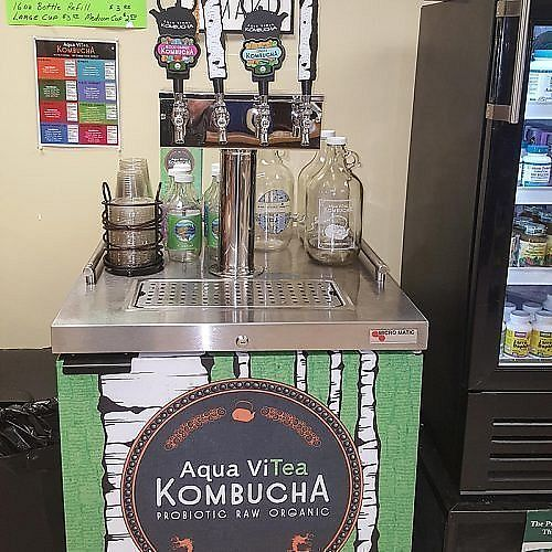 """Photo of Empire Health Foods  by <a href=""""/members/profile/DebraB"""">DebraB</a> <br/>Kombucha on tap  Stand  <br/> August 3, 2017  - <a href='/contact/abuse/image/97802/288367'>Report</a>"""