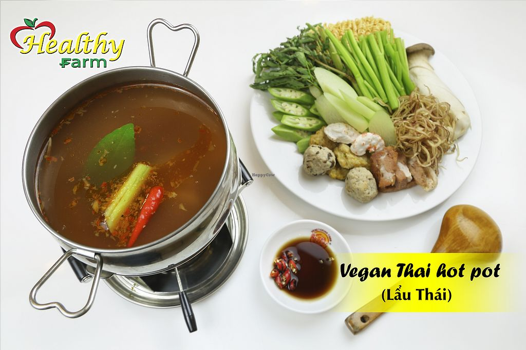 "Photo of  Healthy Farm - Hau Giang District 6  by <a href=""/members/profile/MRJayNguyen"">MRJayNguyen</a> <br/>Vegan Thai Hot Pot <br/> August 17, 2017  - <a href='/contact/abuse/image/97822/293564'>Report</a>"