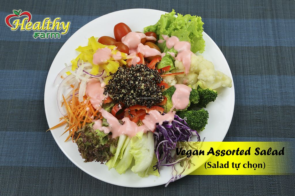 """Photo of Healthy Farm - Pham Hung Binh Chanh District  by <a href=""""/members/profile/MRJayNguyen"""">MRJayNguyen</a> <br/>Vegan Assorted Salad <br/> August 17, 2017  - <a href='/contact/abuse/image/97824/293578'>Report</a>"""