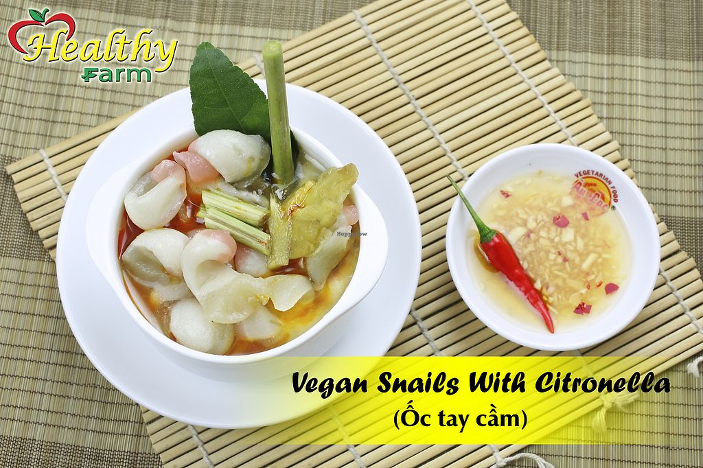 """Photo of Healthy Farm - Tran Quy District 11  by <a href=""""/members/profile/MRJayNguyen"""">MRJayNguyen</a> <br/>Vegan Snails with Citronella <br/> August 17, 2017  - <a href='/contact/abuse/image/97826/293531'>Report</a>"""