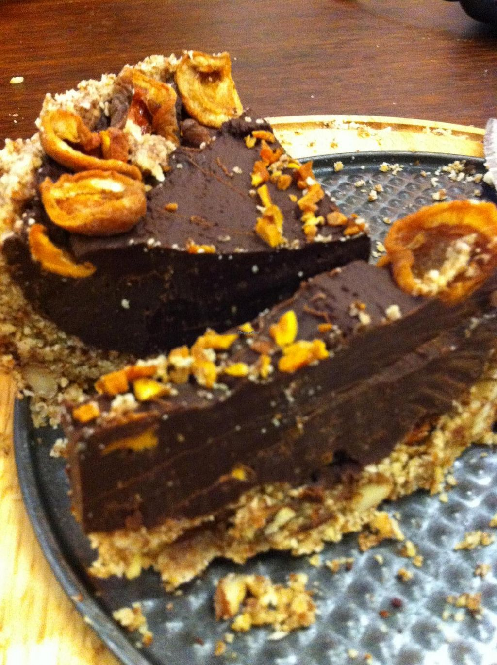 """Photo of Melbourne University Food Co-op  by <a href=""""/members/profile/beancurdled"""">beancurdled</a> <br/>raw chocolate, apricot, and almond torte <br/> January 1, 2015  - <a href='/contact/abuse/image/9782/89266'>Report</a>"""