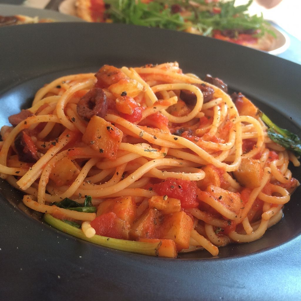 """Photo of Antonio Pizza & Pasta  by <a href=""""/members/profile/audmarlen"""">audmarlen</a> <br/>Pasta with tomato sauce, pumpkin, spinach and olives <br/> August 5, 2017  - <a href='/contact/abuse/image/97845/289051'>Report</a>"""