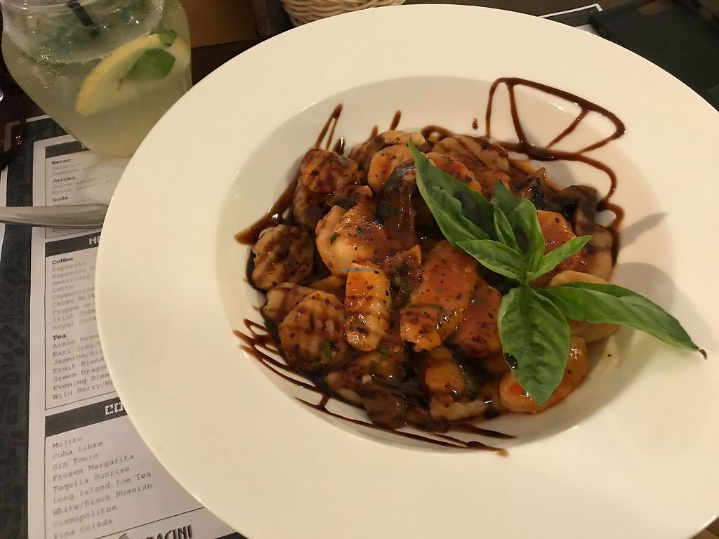 "Photo of Propaganda   by <a href=""/members/profile/HappySami"">HappySami</a> <br/>Gnocchi with mushrooms and special balsamic-based sauce  <br/> August 8, 2017  - <a href='/contact/abuse/image/97873/290475'>Report</a>"