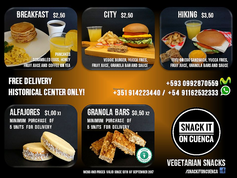 """Photo of CLOSED: Snack It On  by <a href=""""/members/profile/DanielaToscano"""">DanielaToscano</a> <br/>New Delivery Menu (since 13th of september 2017) <br/> September 13, 2017  - <a href='/contact/abuse/image/97891/304033'>Report</a>"""