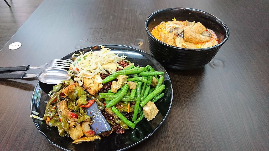 "Photo of Dragon Gate Vegetarian  by <a href=""/members/profile/CherylQuincy"">CherylQuincy</a> <br/>Laksa and beehoon (with Vege selections) <br/> January 31, 2018  - <a href='/contact/abuse/image/97900/353234'>Report</a>"