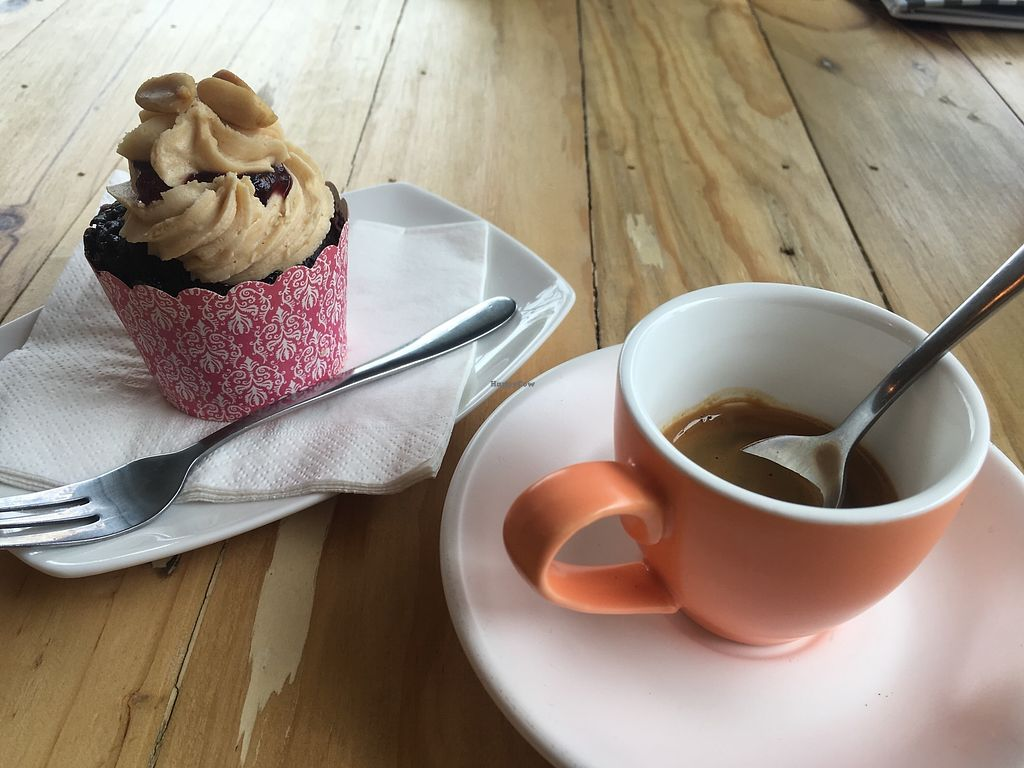 """Photo of Cakes Annie Time  by <a href=""""/members/profile/Unski1290"""">Unski1290</a> <br/>Peanut butter and jelly cupcake & espresso <br/> March 9, 2018  - <a href='/contact/abuse/image/97906/368331'>Report</a>"""