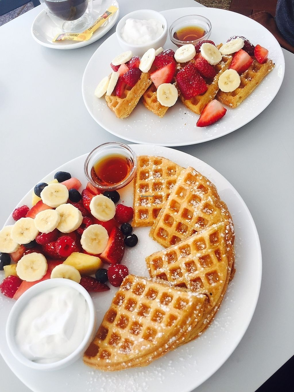 """Photo of Waffle on Cairns  by <a href=""""/members/profile/shana.lea"""">shana.lea</a> <br/>Vegan Fruit Salad Yummy Yummy and vegan The Classic <br/> August 28, 2017  - <a href='/contact/abuse/image/97907/298103'>Report</a>"""