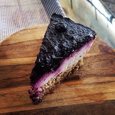 """Photo of Breadelicious  by <a href=""""/members/profile/community5"""">community5</a> <br/>Raw, vegan, gluten-free cheesecake with blueberries & coconut  <br/> August 5, 2017  - <a href='/contact/abuse/image/97913/289261'>Report</a>"""