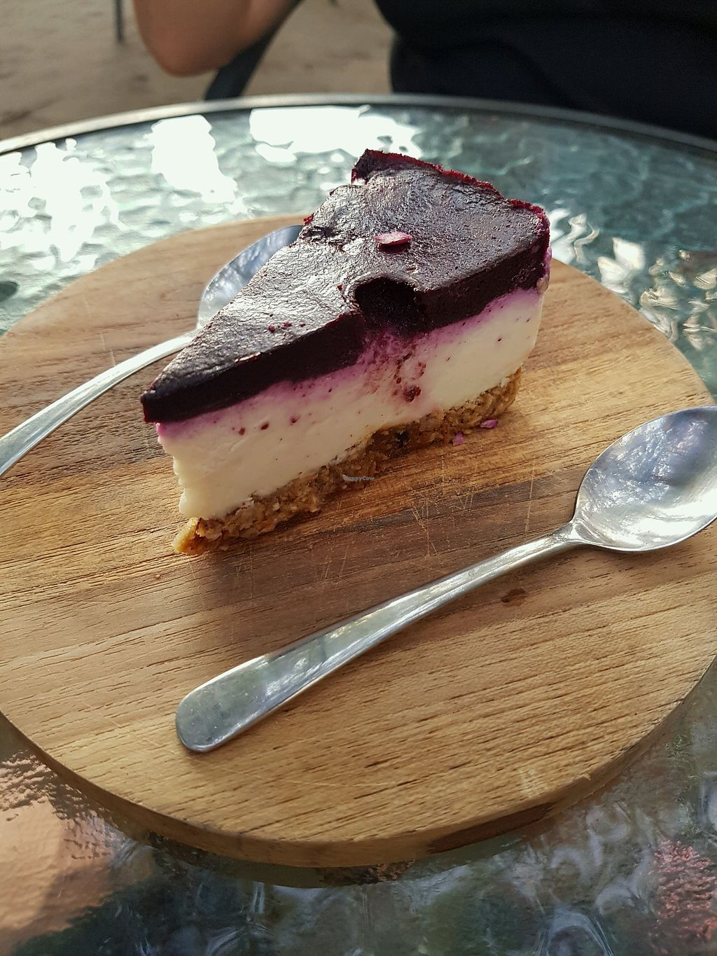 """Photo of Breadelicious  by <a href=""""/members/profile/MishyCow"""">MishyCow</a> <br/>Vegan blueberry cheesecake IDR50, 000 <br/> December 10, 2017  - <a href='/contact/abuse/image/97913/334203'>Report</a>"""