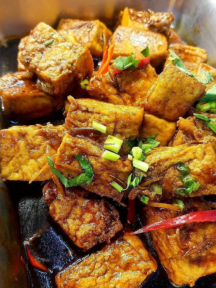 """Photo of CLOSED: Crystal Vegetarian - Blk 408 AMK  by <a href=""""/members/profile/JimmySeah"""" class=""""title__title"""">JimmySeah</a> <br/>buffet dish - bean curd <br/> October 10, 2017  - <a href='/contact/abuse/image/97942/314002'>Report</a>"""