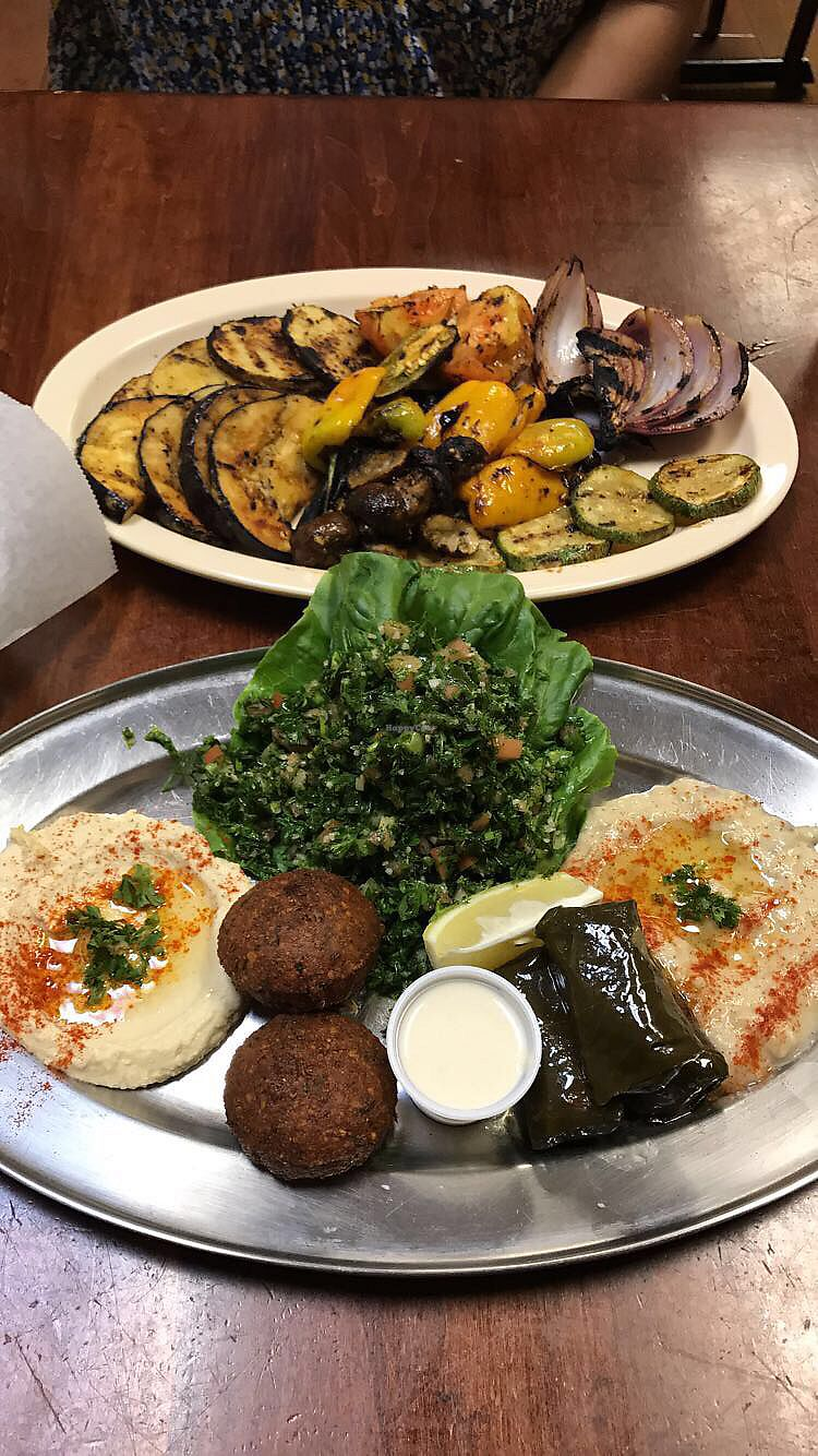 """Photo of Nour Mediterranean Cafe  by <a href=""""/members/profile/AndreaGaytan"""">AndreaGaytan</a> <br/>Top vegetarian and bottom vegan <br/> August 9, 2017  - <a href='/contact/abuse/image/97948/290932'>Report</a>"""
