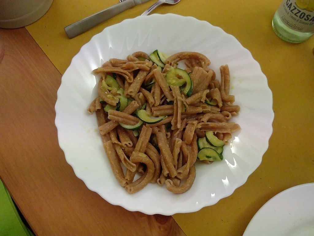 """Photo of Trattoria CannoBIO di Claudia e Mauro  by <a href=""""/members/profile/Tieneun"""">Tieneun</a> <br/>Spelt pasta and courgette <br/> August 6, 2017  - <a href='/contact/abuse/image/97956/289552'>Report</a>"""