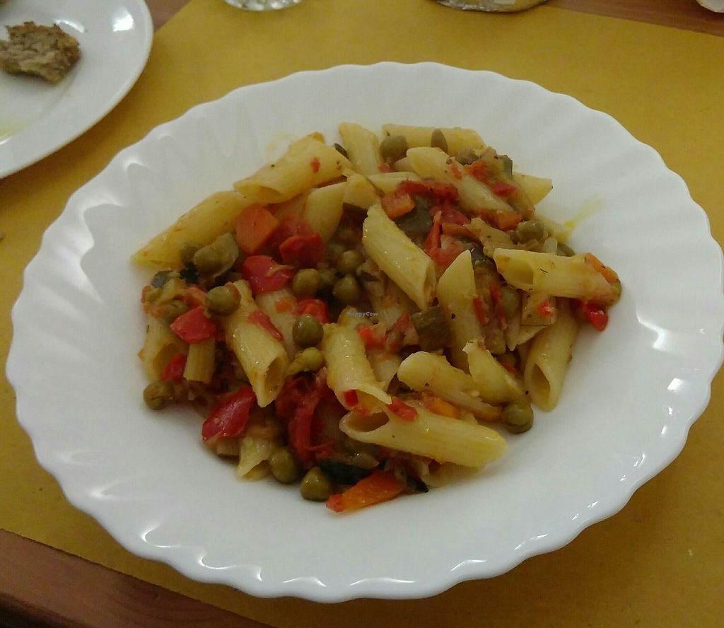 """Photo of Trattoria CannoBIO di Claudia e Mauro  by <a href=""""/members/profile/Tieneun"""">Tieneun</a> <br/>Veg and pasta (labeled as bolognaise on menu) <br/> August 6, 2017  - <a href='/contact/abuse/image/97956/289553'>Report</a>"""