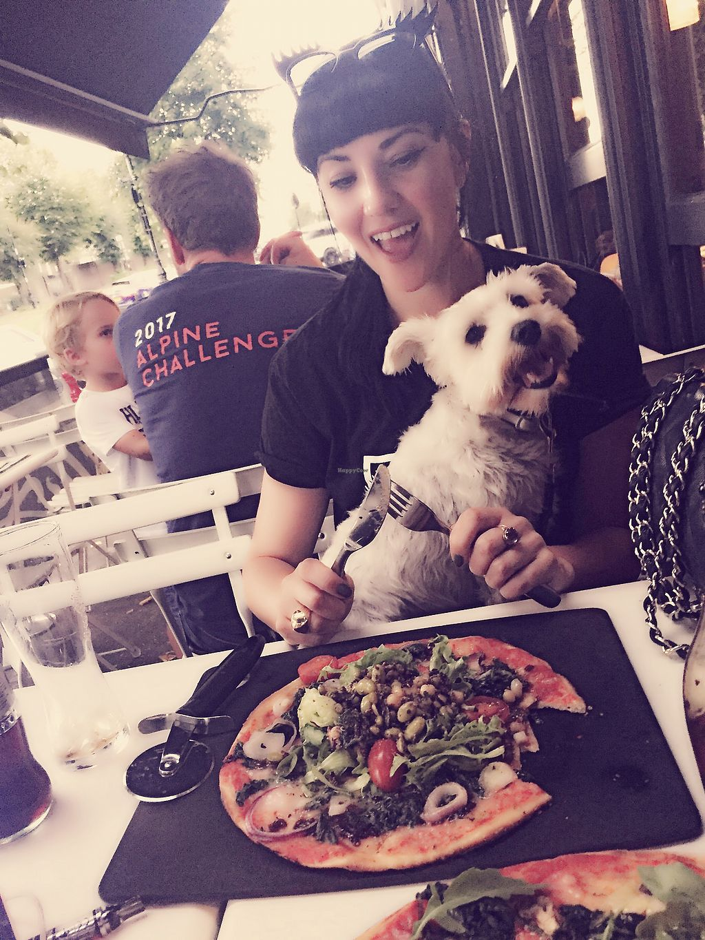 """Photo of Pizza Express  by <a href=""""/members/profile/TARAMCDONALD"""">TARAMCDONALD</a> <br/>Outside seating and great vegan options.  Dogs are welcome outside only :) <br/> August 29, 2017  - <a href='/contact/abuse/image/97958/298780'>Report</a>"""