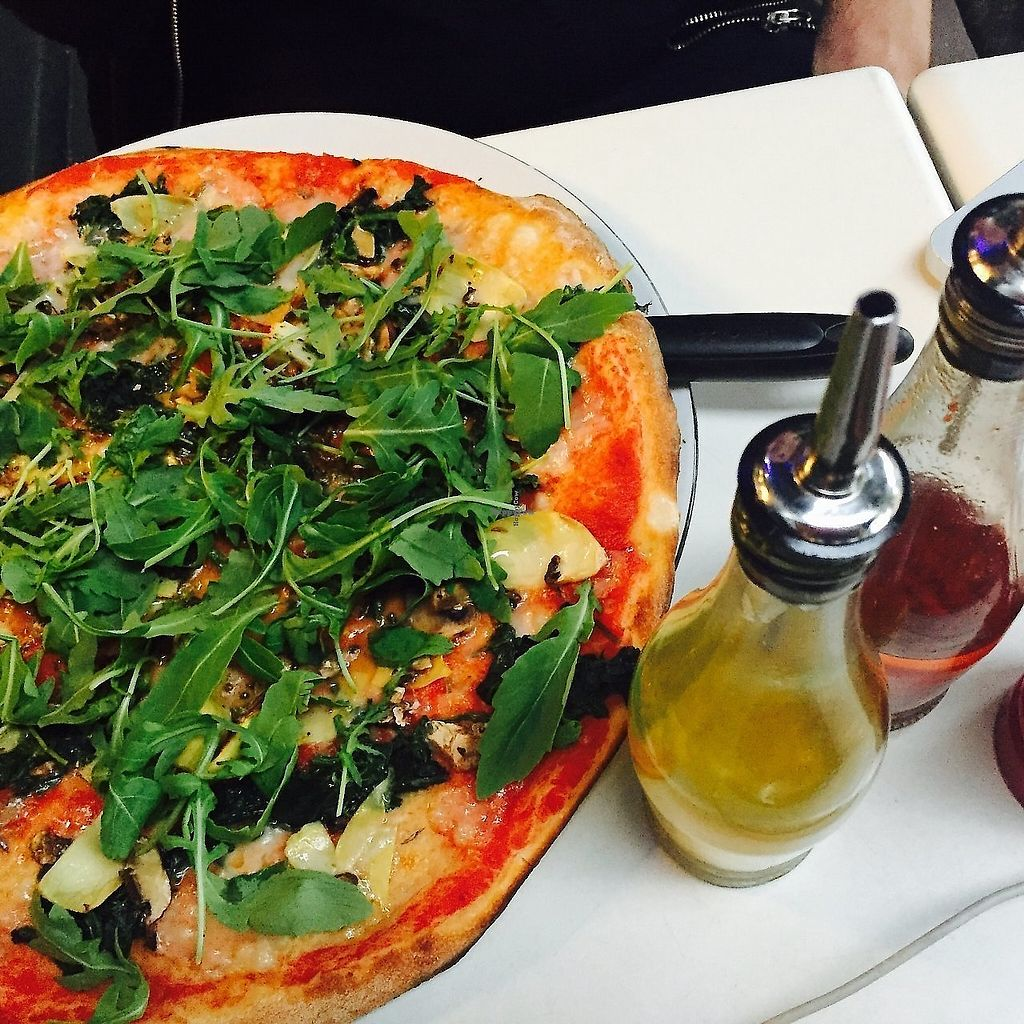 """Photo of Pizza Express  by <a href=""""/members/profile/TARAMCDONALD"""">TARAMCDONALD</a> <br/>Large vegan pizza! <br/> August 29, 2017  - <a href='/contact/abuse/image/97958/325956'>Report</a>"""