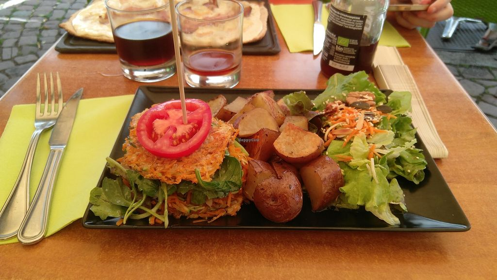 """Photo of La Cour des Anges  by <a href=""""/members/profile/clemacle"""">clemacle</a> <br/>Vegan burger <br/> August 7, 2017  - <a href='/contact/abuse/image/97997/290064'>Report</a>"""