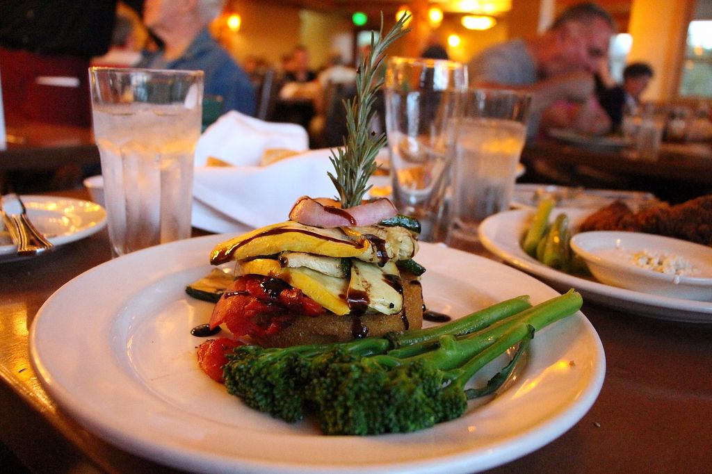 """Photo of Old Faithful Snow Lodge Obsidian Dining Room  by <a href=""""/members/profile/Drhannahj"""">Drhannahj</a> <br/>Polenta Fritter <br/> August 21, 2017  - <a href='/contact/abuse/image/98015/294996'>Report</a>"""