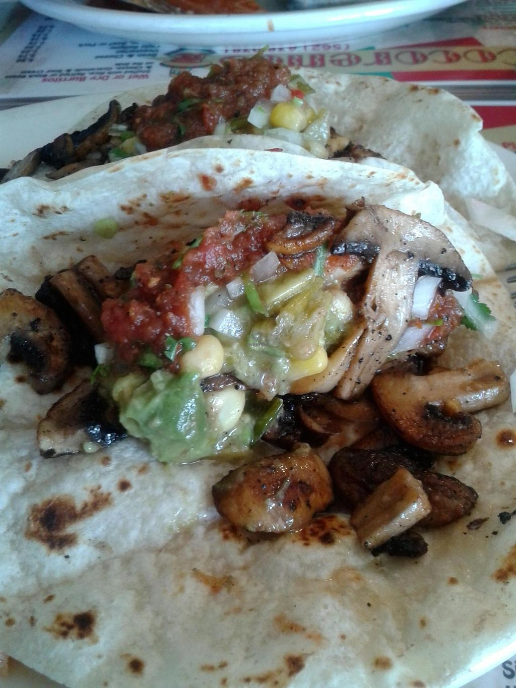 "Photo of Cocorenos  by <a href=""/members/profile/chobesoy"">chobesoy</a> <br/>blackened mushroom tacos combo <br/> June 17, 2015  - <a href='/contact/abuse/image/9802/106359'>Report</a>"