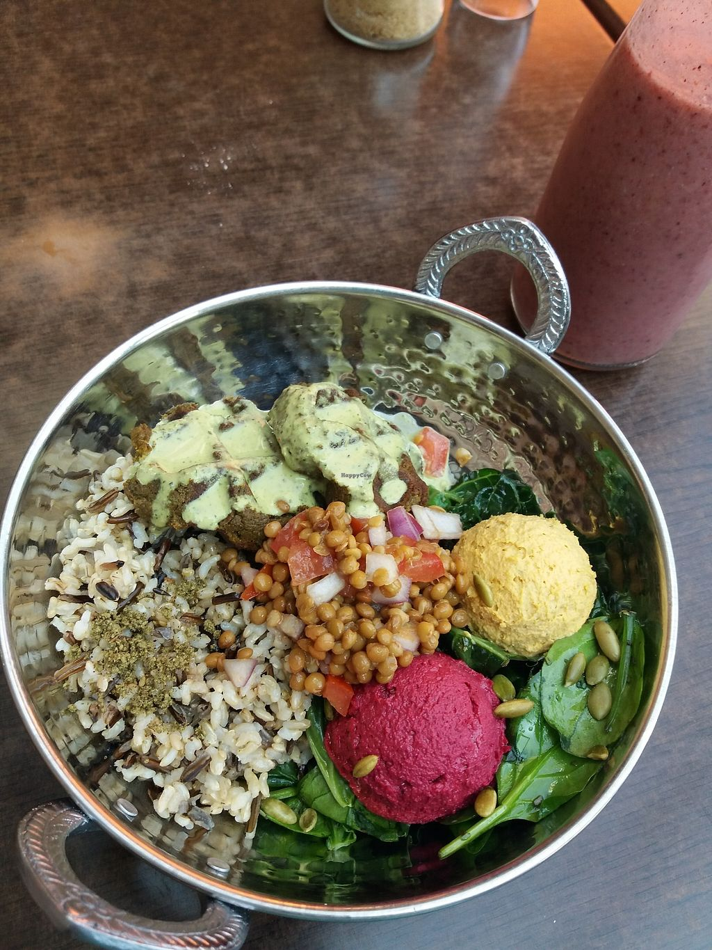 """Photo of Buddha Bowl Cafe  by <a href=""""/members/profile/veganvirtues"""">veganvirtues</a> <br/>Bedouin bowl <br/> September 21, 2017  - <a href='/contact/abuse/image/98055/306654'>Report</a>"""