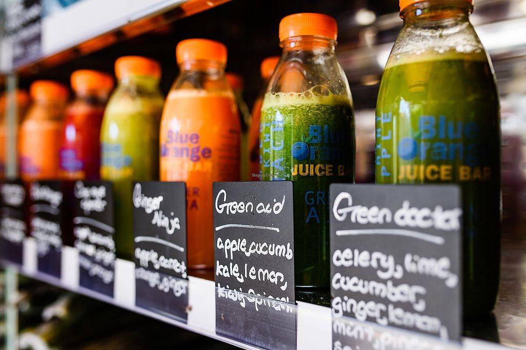 """Photo of Blue Orange Juice Bar  by <a href=""""/members/profile/blueoranoejuicebars"""">blueoranoejuicebars</a> <br/>We offer a large range of juices or smoothies or we are happy to make up your own recipes <br/> August 14, 2017  - <a href='/contact/abuse/image/98064/292701'>Report</a>"""