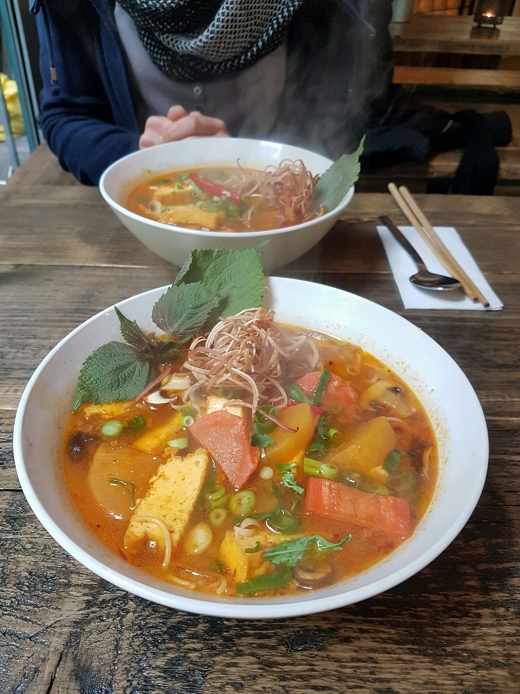 """Photo of Chum Chay  by <a href=""""/members/profile/uschiverena"""">uschiverena</a> <br/>spicy noodle soup <br/> March 22, 2018  - <a href='/contact/abuse/image/98106/374292'>Report</a>"""