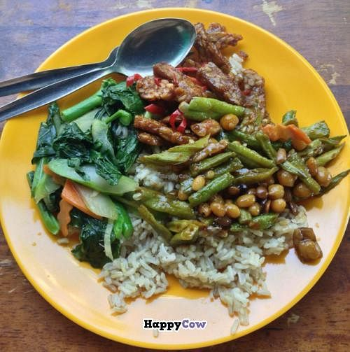 """Photo of Evergreen Vegetarian House  by <a href=""""/members/profile/Teppiedoo"""">Teppiedoo</a> <br/>lunch buffet <br/> June 29, 2013  - <a href='/contact/abuse/image/9810/50458'>Report</a>"""