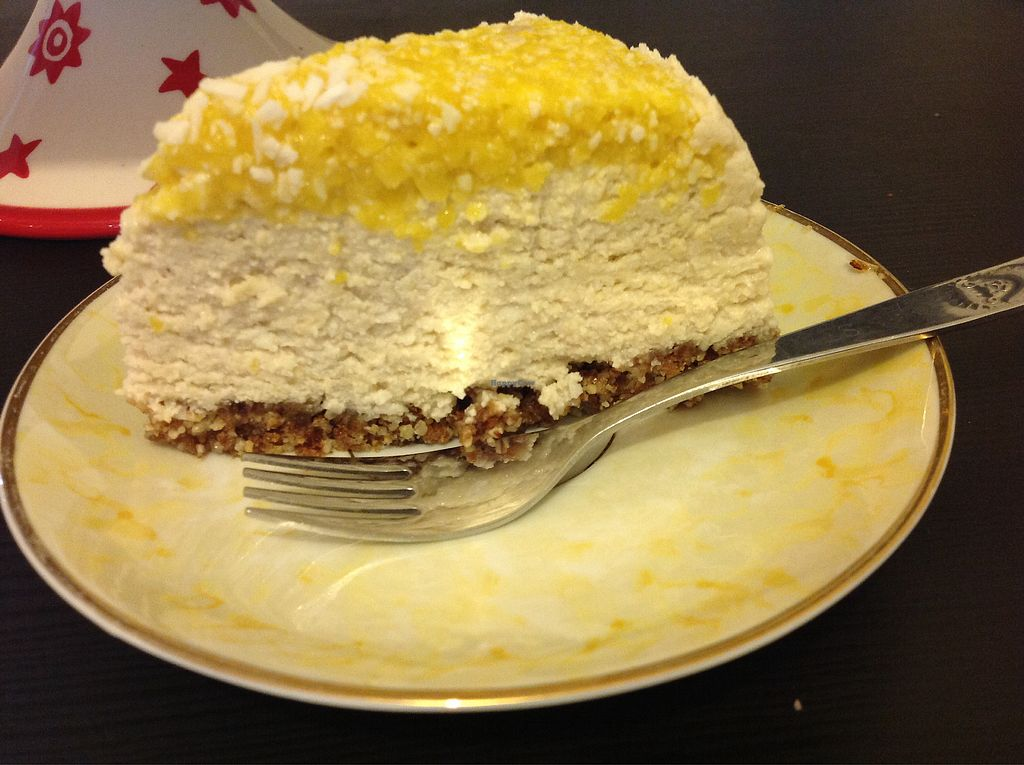"""Photo of Vegangela Rose Cakes  by <a href=""""/members/profile/AngelaFeane"""">AngelaFeane</a> <br/>Raw mango and coconut cheese cake <br/> March 20, 2018  - <a href='/contact/abuse/image/98113/373188'>Report</a>"""