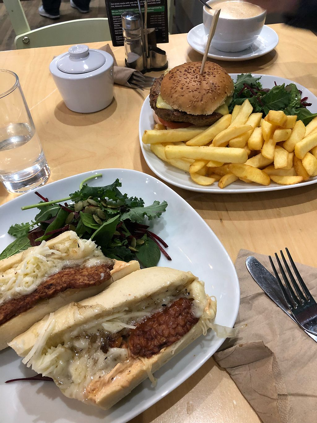 "Photo of Cafe Thrive  by <a href=""/members/profile/broganlane"">broganlane</a> <br/>The New Yorker Reuben and Meaty Burger  <br/> January 20, 2018  - <a href='/contact/abuse/image/98116/348919'>Report</a>"