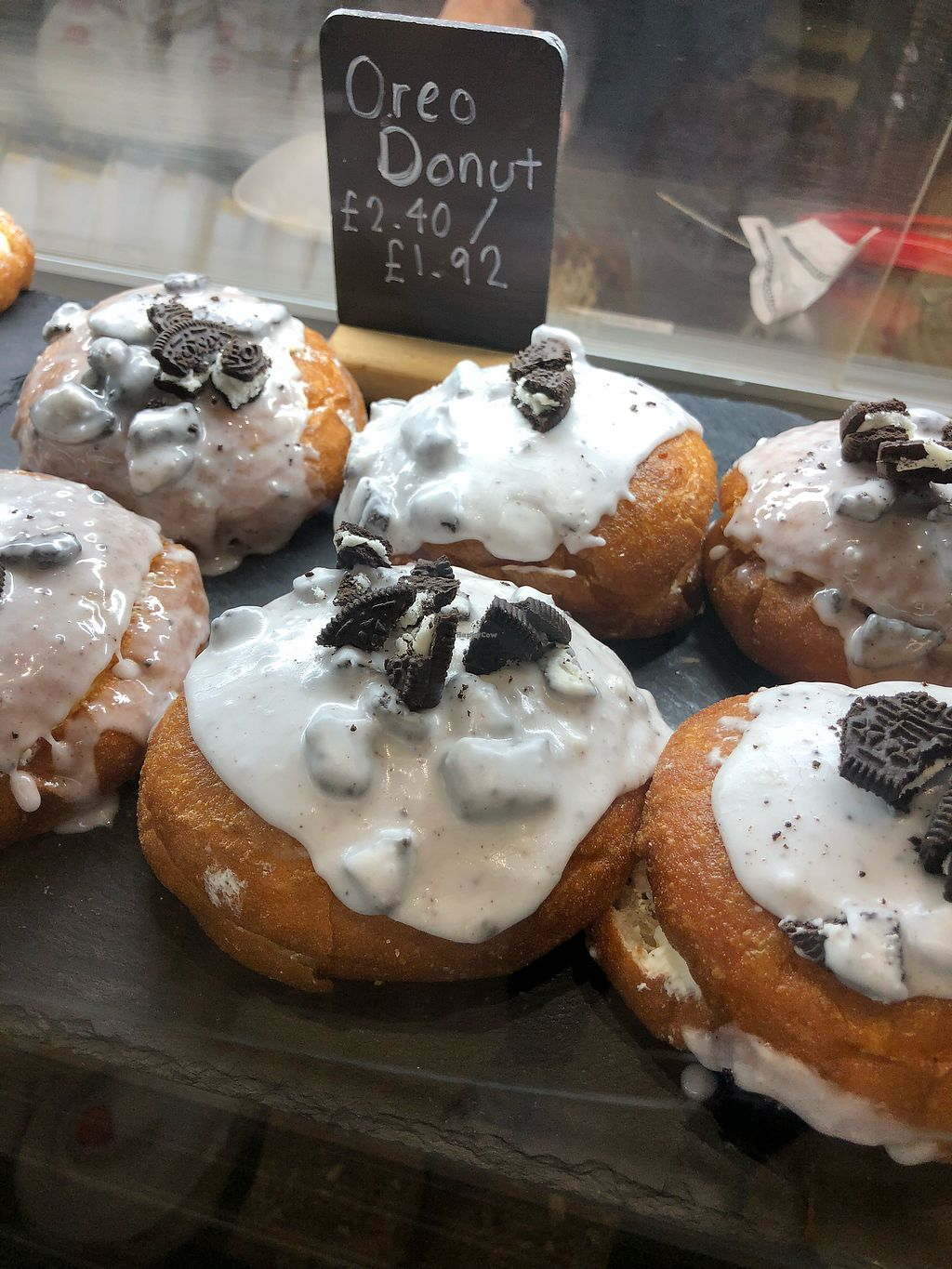 "Photo of Cafe Thrive  by <a href=""/members/profile/broganlane"">broganlane</a> <br/>Vegan Oreo doughnuts!  <br/> January 20, 2018  - <a href='/contact/abuse/image/98116/348920'>Report</a>"