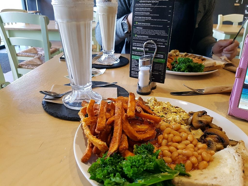 "Photo of Cafe Thrive  by <a href=""/members/profile/Rachaelm"">Rachaelm</a> <br/>fry up and maple milkshake <br/> February 15, 2018  - <a href='/contact/abuse/image/98116/359603'>Report</a>"