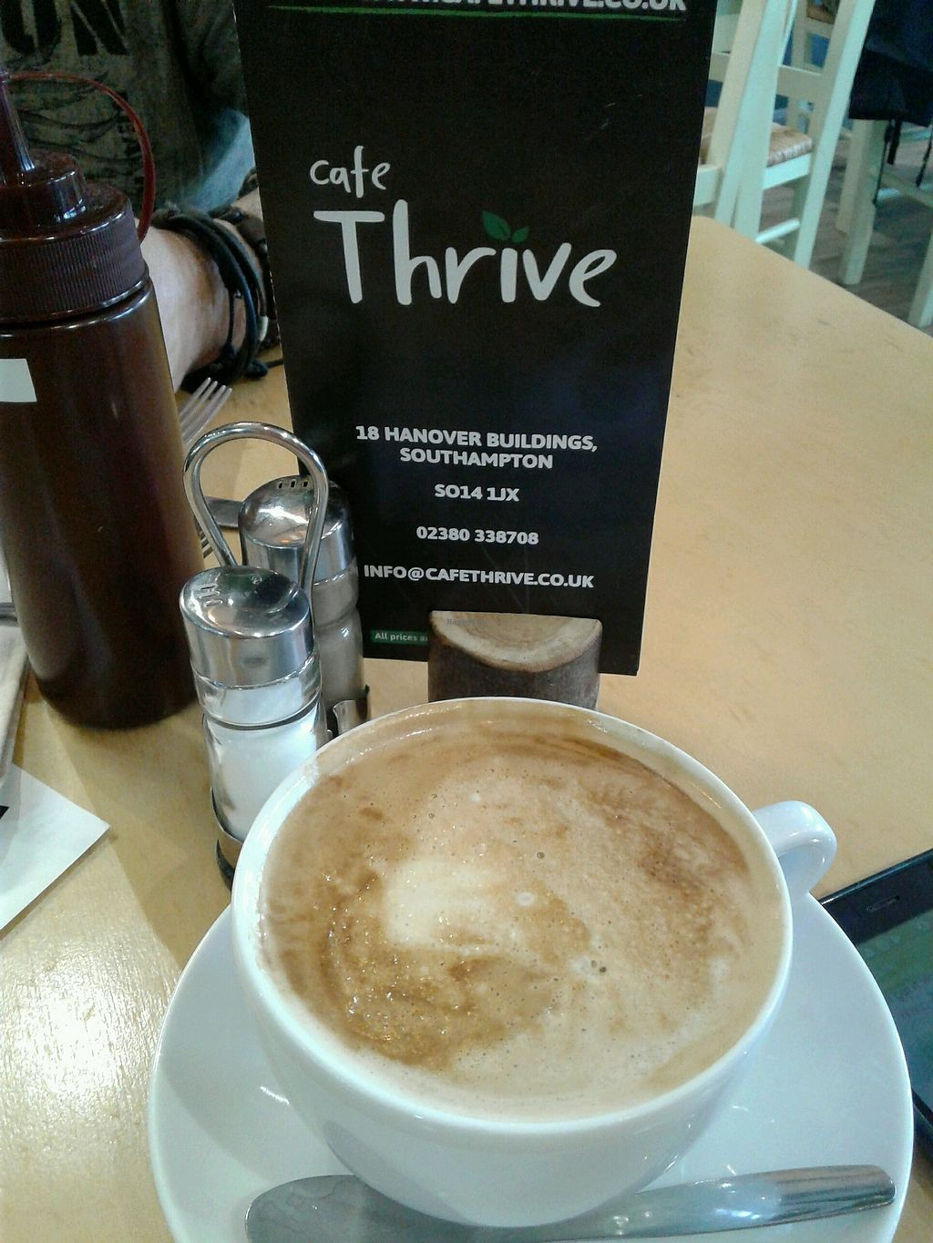 "Photo of Cafe Thrive  by <a href=""/members/profile/JuliaHubbard"">JuliaHubbard</a> <br/>soya latte <br/> March 12, 2018  - <a href='/contact/abuse/image/98116/369781'>Report</a>"