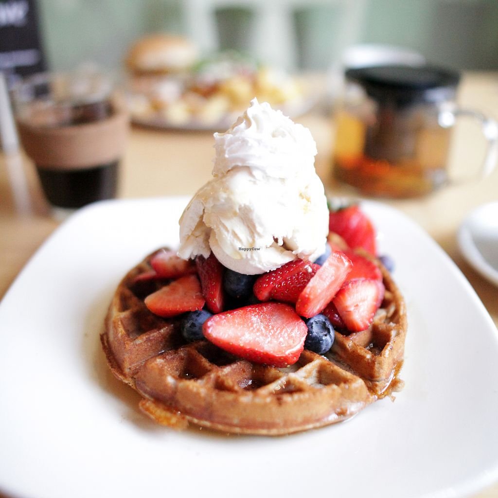 "Photo of Cafe Thrive  by <a href=""/members/profile/thecharlotte"">thecharlotte</a> <br/>Berry, vanilla and maple waffles <br/> April 12, 2018  - <a href='/contact/abuse/image/98116/384486'>Report</a>"