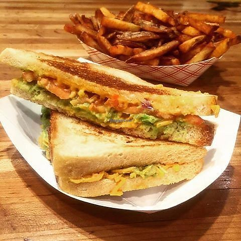 """Photo of Roxy's Grilled Cheese & Burgers  by <a href=""""/members/profile/community5"""">community5</a> <br/>Daiya cheddar with tomato and avocado <br/> August 9, 2017  - <a href='/contact/abuse/image/98119/290977'>Report</a>"""