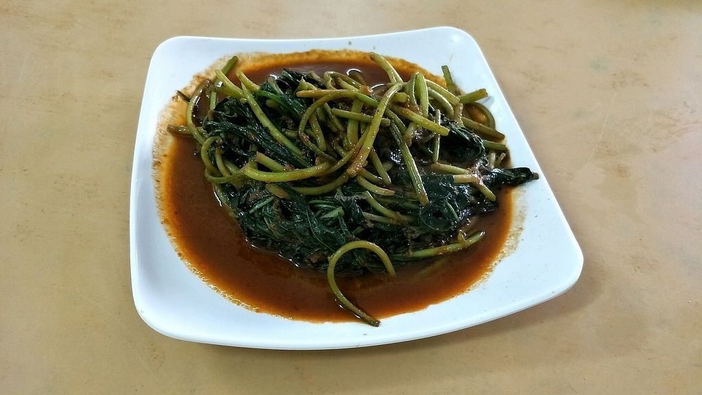"""Photo of Pu Ti Vegetarian  by <a href=""""/members/profile/alicel"""">alicel</a> <br/>belacan sweet potato leaves <br/> December 14, 2017  - <a href='/contact/abuse/image/9812/335464'>Report</a>"""