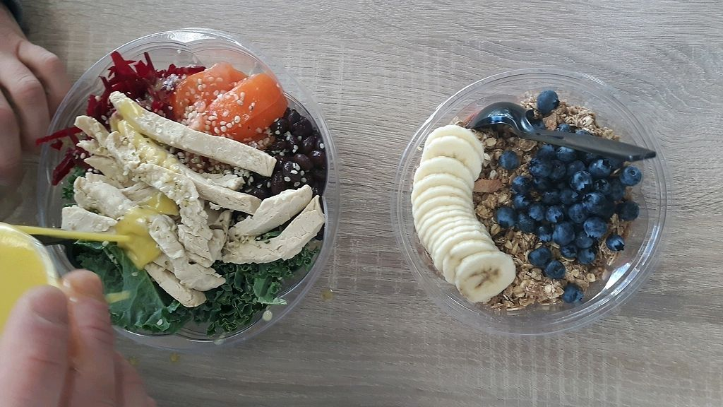 "Photo of Fresh Healthy Cafe  by <a href=""/members/profile/BridgetLove"">BridgetLove</a> <br/>un-chickn protein bowl and acai bowl <br/> January 21, 2018  - <a href='/contact/abuse/image/98149/349194'>Report</a>"
