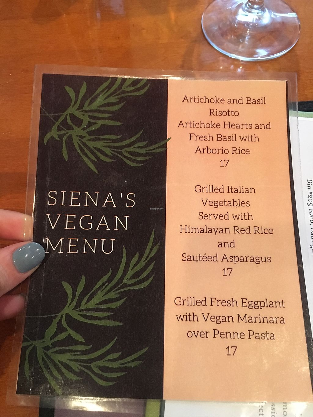 """Photo of Siena  by <a href=""""/members/profile/ElaynaJohnson"""">ElaynaJohnson</a> <br/>Vegan Menu <br/> August 10, 2017  - <a href='/contact/abuse/image/98164/291200'>Report</a>"""