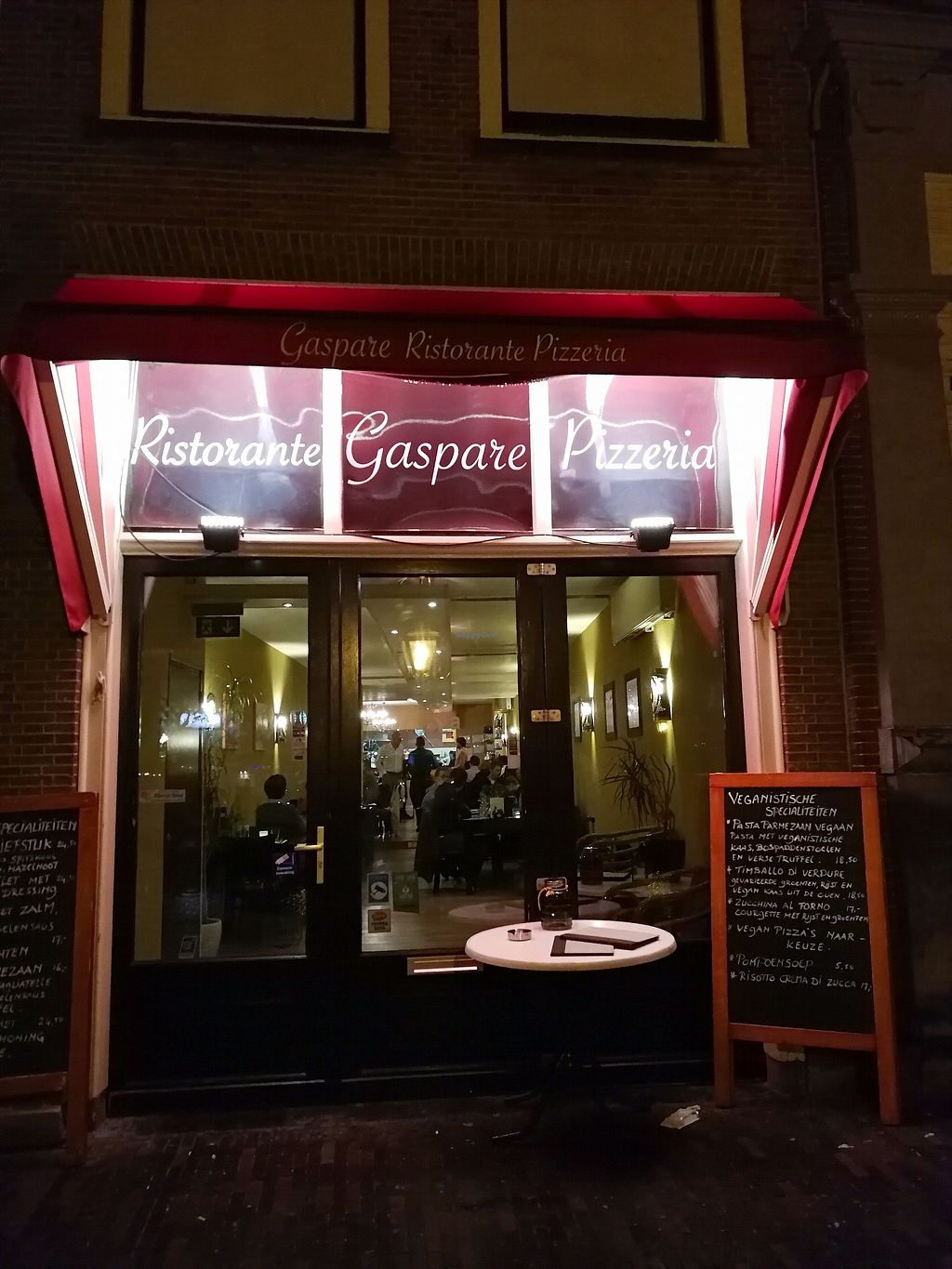 """Photo of Gaspare Ristorante Pizzeria  by <a href=""""/members/profile/Gudrun"""">Gudrun</a> <br/>From the outside @ night <br/> November 5, 2017  - <a href='/contact/abuse/image/98173/321998'>Report</a>"""