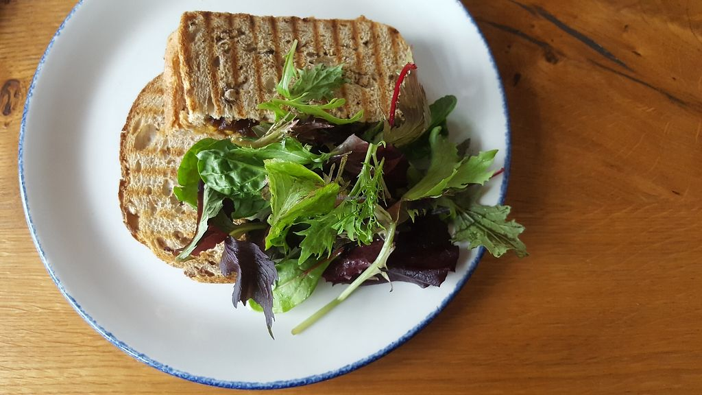 """Photo of Island Cafe  by <a href=""""/members/profile/VeganAnnaS"""">VeganAnnaS</a> <br/>Vegan cheese toasties! <br/> October 14, 2017  - <a href='/contact/abuse/image/98184/315192'>Report</a>"""
