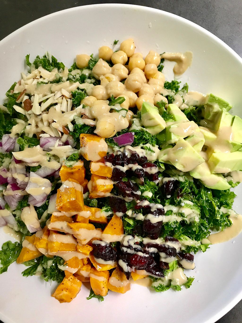"""Photo of Perk Coffee House   by <a href=""""/members/profile/MeganWoodard"""">MeganWoodard</a> <br/>Kale Power Bowl  <br/> August 9, 2017  - <a href='/contact/abuse/image/98196/290749'>Report</a>"""
