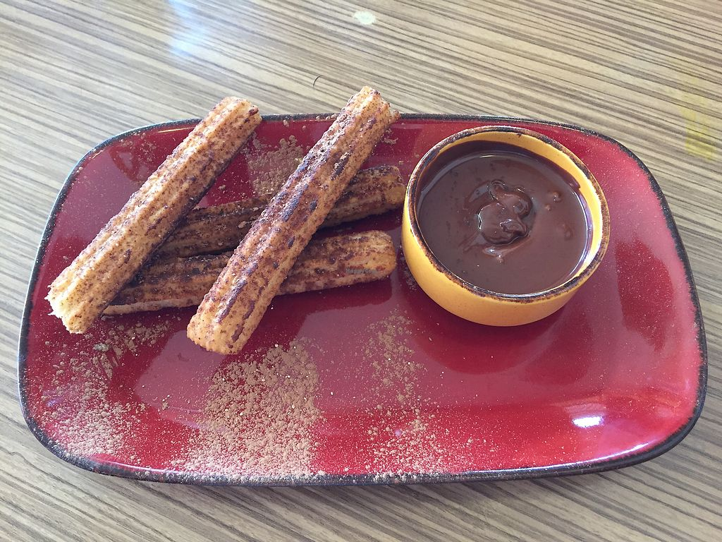 "Photo of Trippy Taco  by <a href=""/members/profile/Wuji_Luiji"">Wuji_Luiji</a> <br/>Churros with vegan chocolate sauce <br/> December 29, 2017  - <a href='/contact/abuse/image/9819/340348'>Report</a>"