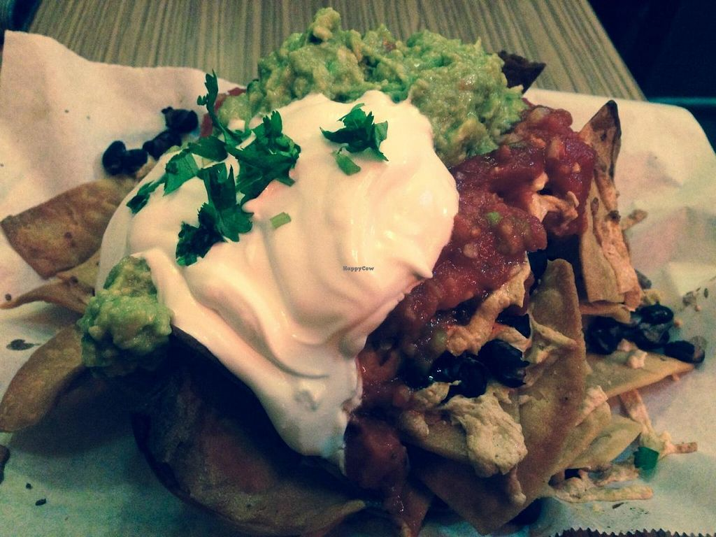 "Photo of Trippy Taco  by <a href=""/members/profile/Tiggy"">Tiggy</a> <br/>Vegan nachos (new with Daiya vegan cheese) - December 2014 <br/> December 6, 2014  - <a href='/contact/abuse/image/9819/87309'>Report</a>"