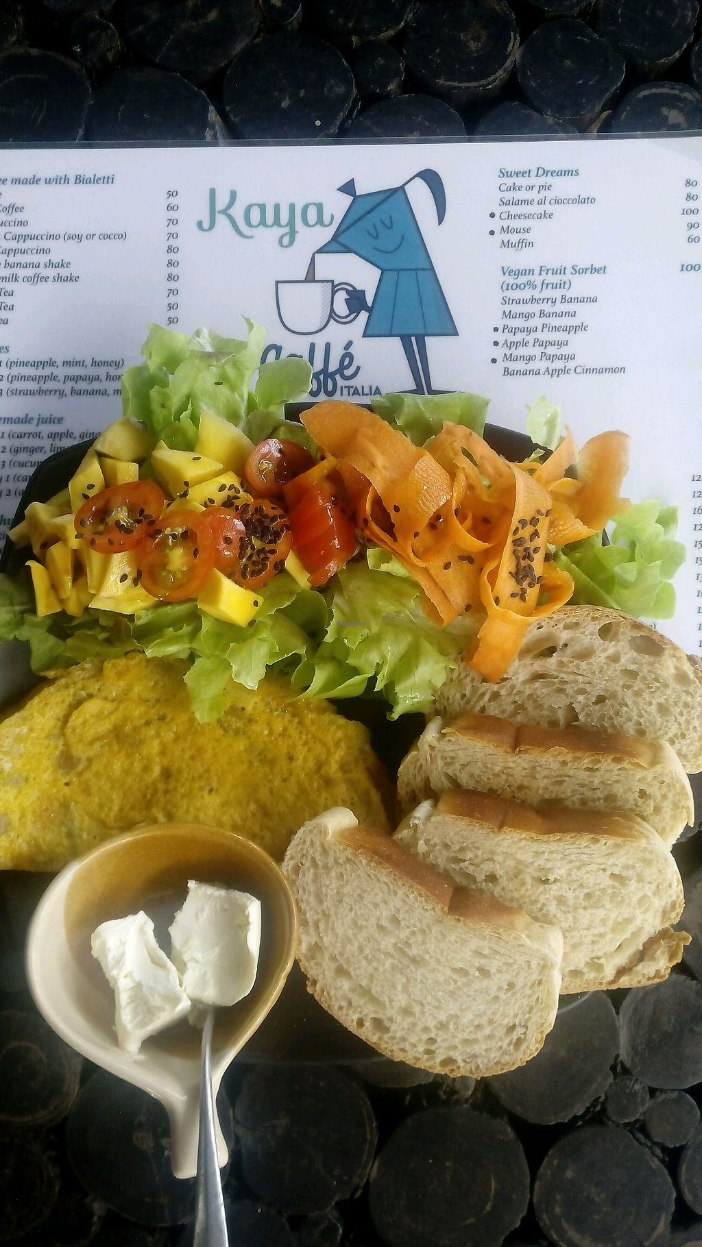 """Photo of Kaya Caffe  by <a href=""""/members/profile/FrancescaBonello"""">FrancescaBonello</a> <br/>Veggy omelette  <br/> August 23, 2017  - <a href='/contact/abuse/image/98208/296145'>Report</a>"""