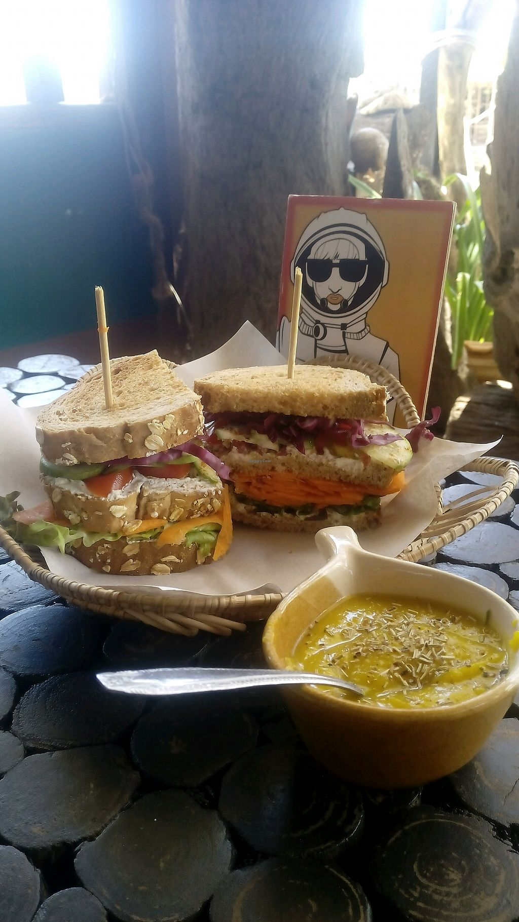 """Photo of Kaya Caffe  by <a href=""""/members/profile/FrancescaBonello"""">FrancescaBonello</a> <br/>Veggy sandwiches whit homemade cheese  <br/> September 2, 2017  - <a href='/contact/abuse/image/98208/299935'>Report</a>"""