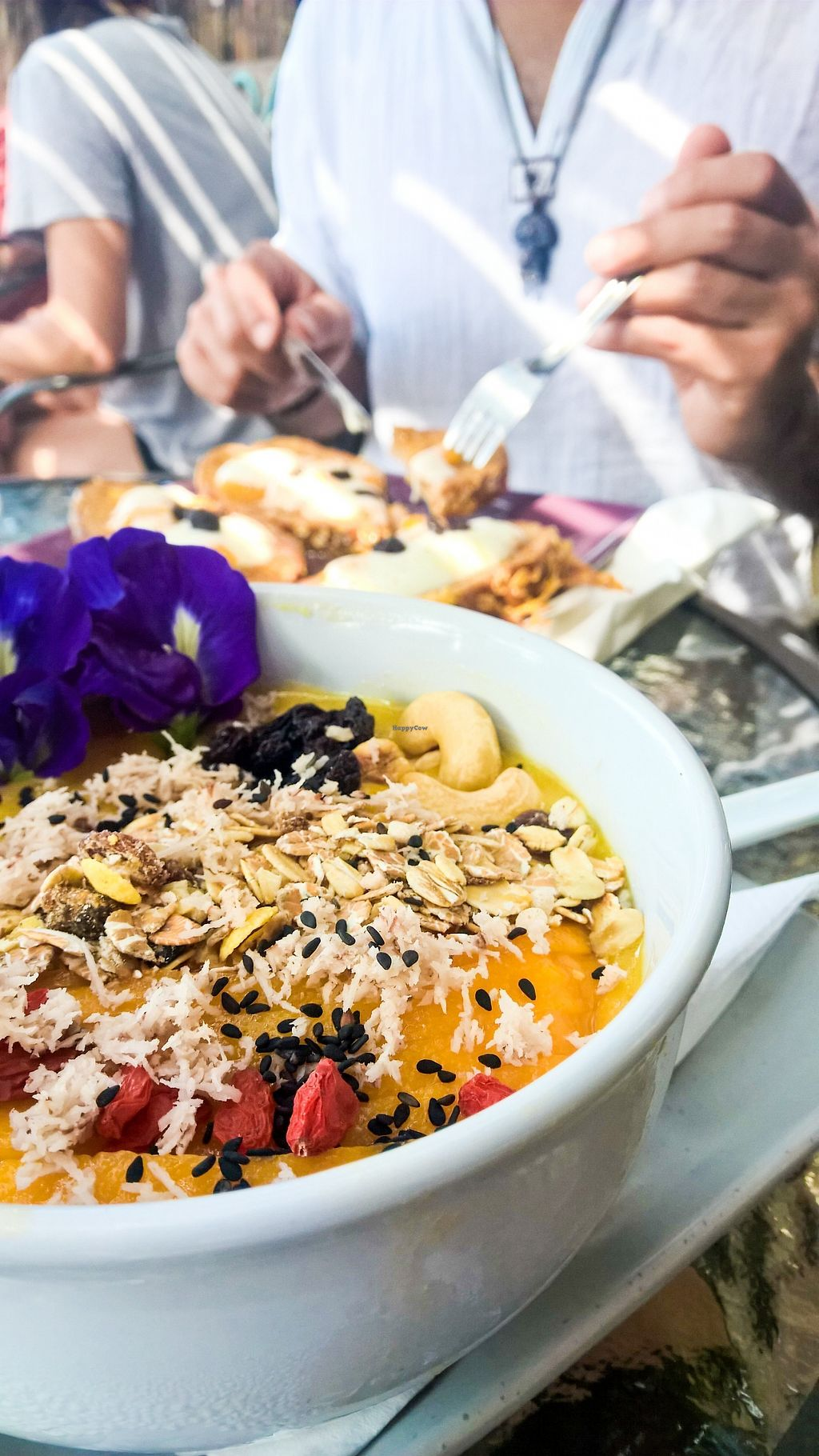 """Photo of Kaya Caffe  by <a href=""""/members/profile/tofu-n-beer"""">tofu-n-beer</a> <br/>Mango smoothie bowl <br/> December 16, 2017  - <a href='/contact/abuse/image/98208/336101'>Report</a>"""