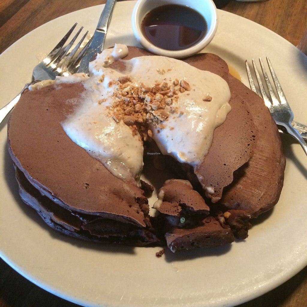"""Photo of Julian's  by <a href=""""/members/profile/RyanSt"""">RyanSt</a> <br/>Vegan chocolate pancakes  <br/> October 5, 2017  - <a href='/contact/abuse/image/9822/311919'>Report</a>"""