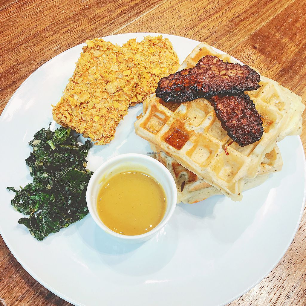 """Photo of Sparestore  by <a href=""""/members/profile/kay1abear"""">kay1abear</a> <br/>""""Chicken"""" and waffles  <br/> March 22, 2018  - <a href='/contact/abuse/image/98236/374212'>Report</a>"""