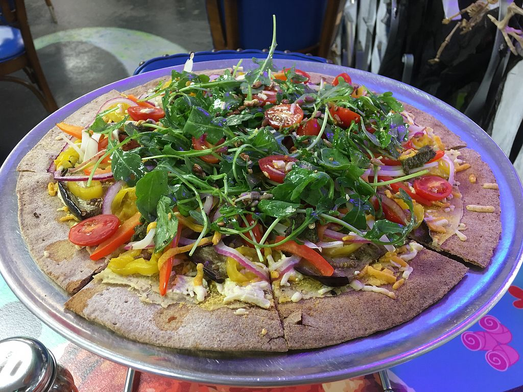 "Photo of Stone Sisters Pizza Bar  by <a href=""/members/profile/RodneyJBroaddus"">RodneyJBroaddus</a> <br/>Vegan Shmeegan #1 <br/> October 12, 2017  - <a href='/contact/abuse/image/98255/314372'>Report</a>"