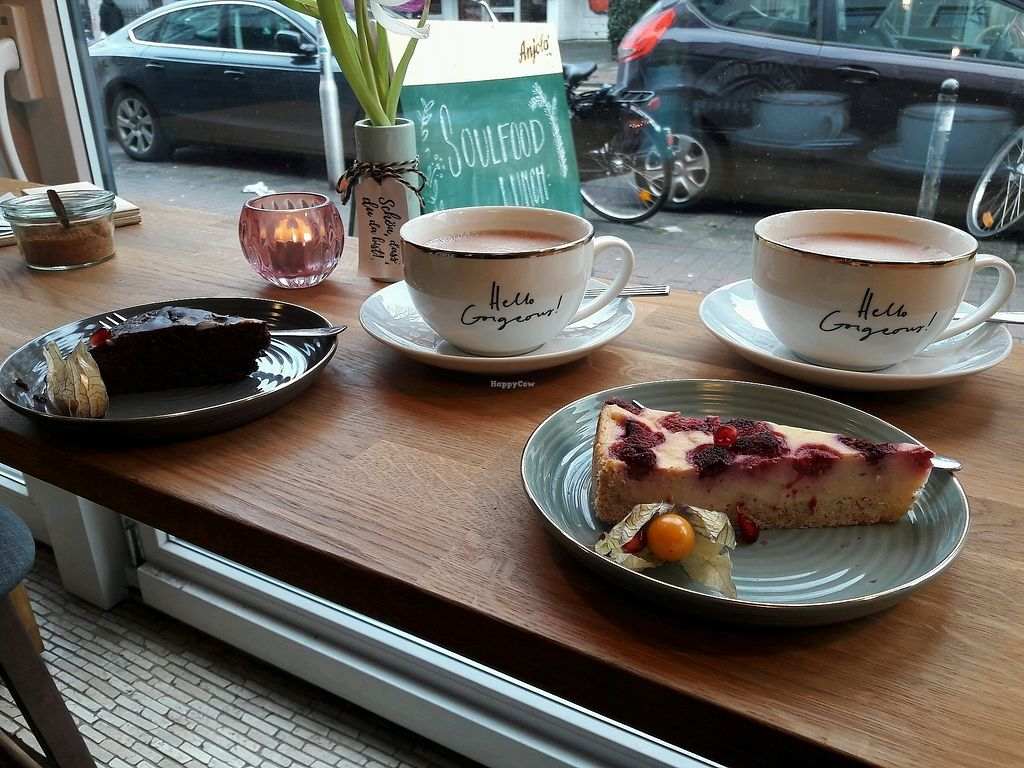 """Photo of SOUL Vegan Coffee Bar  by <a href=""""/members/profile/Scarify"""">Scarify</a> <br/>cake and coffee <br/> March 31, 2018  - <a href='/contact/abuse/image/98256/378775'>Report</a>"""
