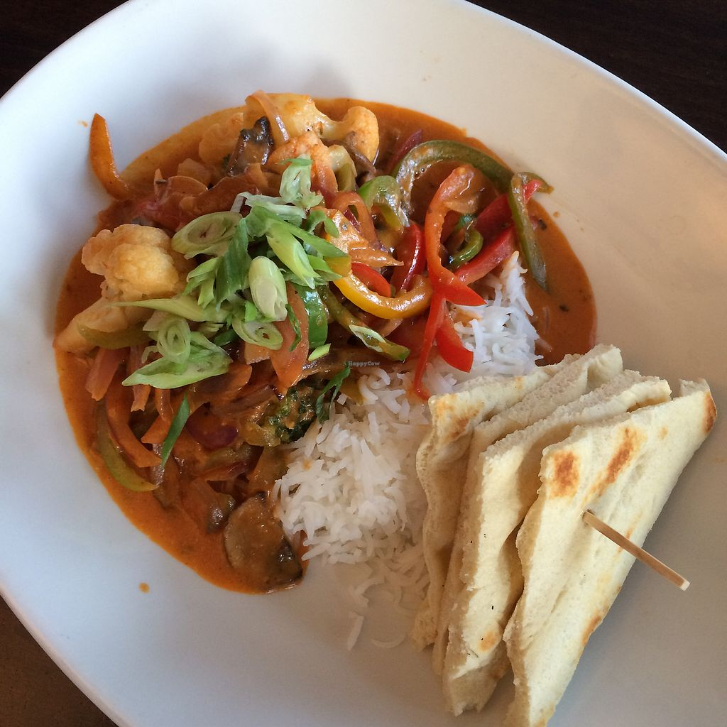 """Photo of Blue Dining + Lounge  by <a href=""""/members/profile/VeggieFromSpace"""">VeggieFromSpace</a> <br/>vegan Thai curry <br/> August 12, 2017  - <a href='/contact/abuse/image/98261/291773'>Report</a>"""